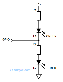 One switch or GPIO / multiple LEDs | LEDnique
