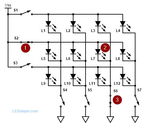 multiplexed display the basics lednique rh lednique com