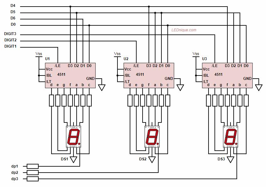 7 Segment Display Basics Lednique