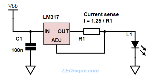 lm317 constant current power supply ledniquelm317 constant current power supply