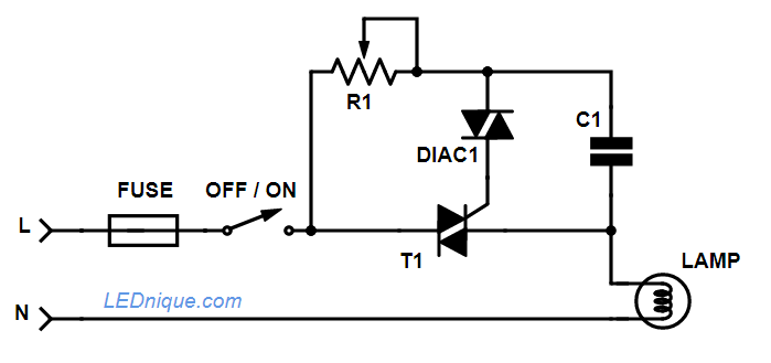 lamp dimmer schematic